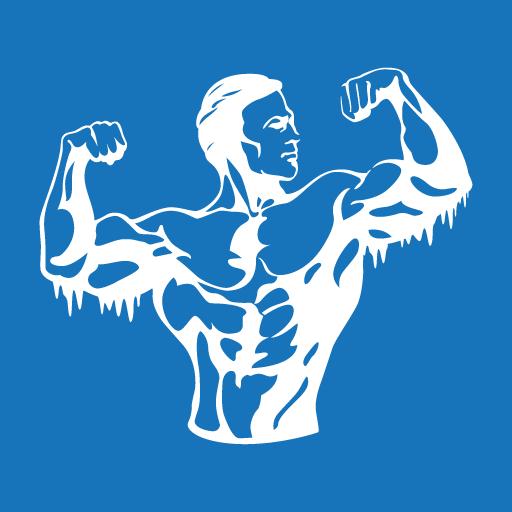 Iceberg supplements body blue logo
