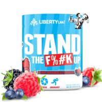 strong pre workout light blue tub by Liberty Labz