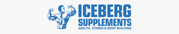 iceberg supplements light blue man logo