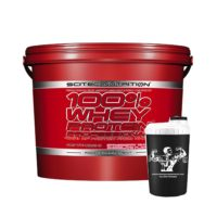 scitec 5kg red tub of whey protein