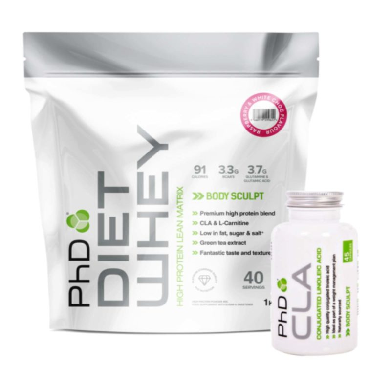 1kg phd diet whey and cla caps 45 servings