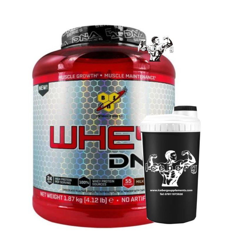 bsn dna whey and shaker