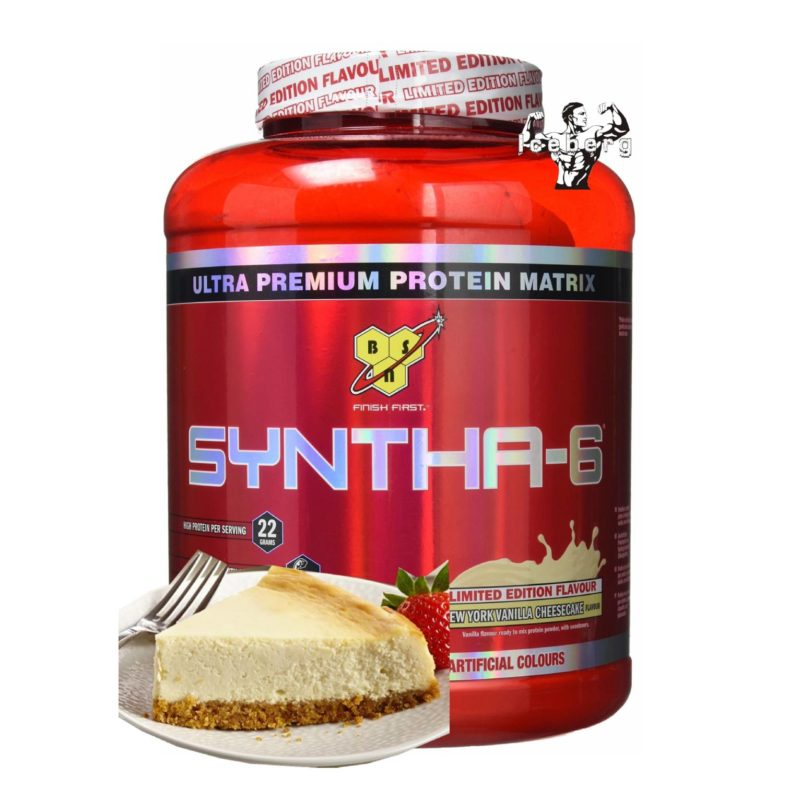 bsn syntha 6 2.2kg red tub new york vanilla flavour