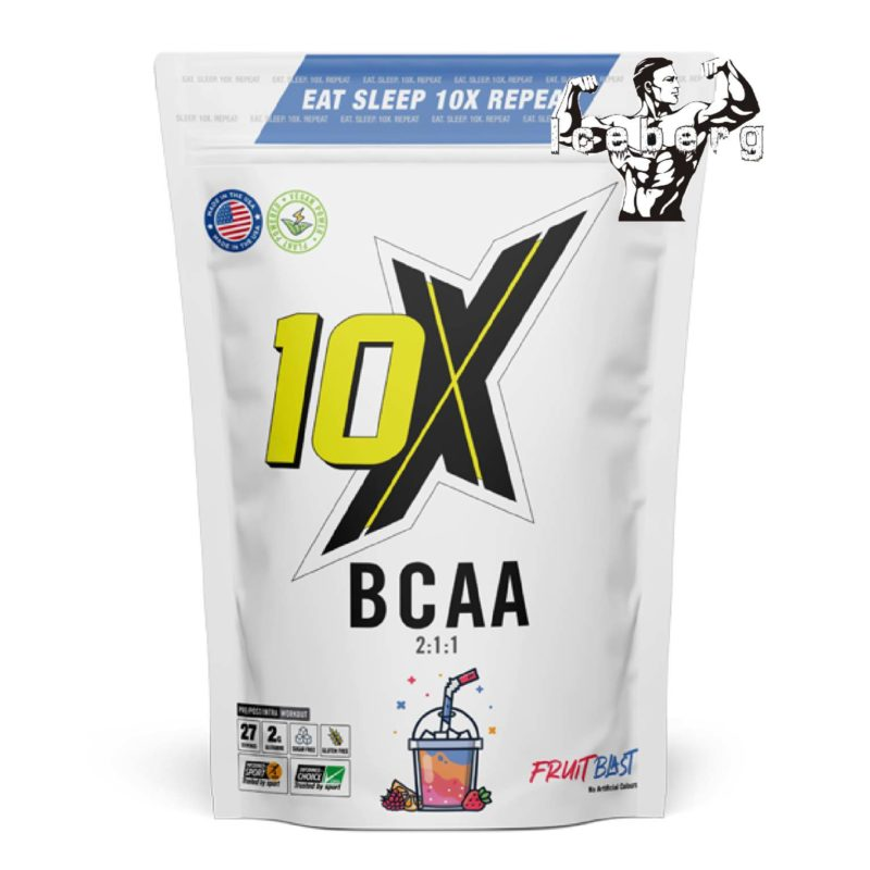 10X Athletic -BCAA powder 240g 25 servings sugar free repair and recovery