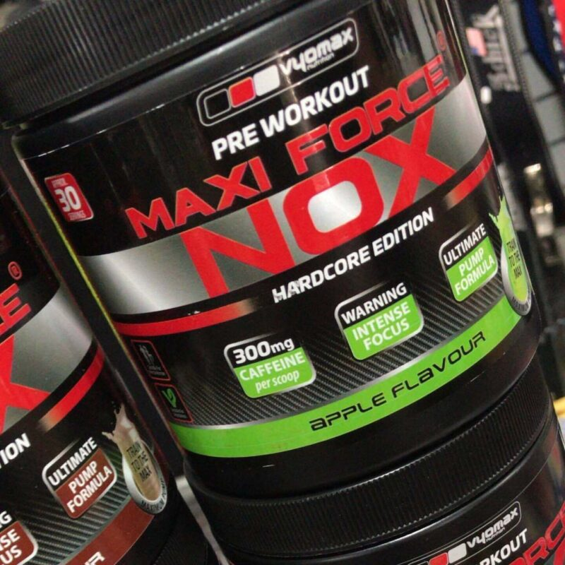 Vyomax Maxi Force Nox Pre Workout Strong Energy Pump Hardcore Edition 30 Serv