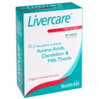 HealthAid Livercare with Amino Acids & Milk Thistle 60 Tablets.