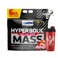 USN HYPERBOLIC MASS 6KG HIGH CALORIE WEIGHT GAIN NEW BAG & SHAKER