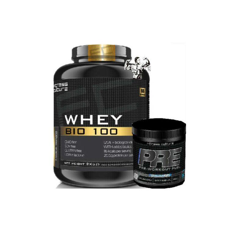 Fitness Culture Whey Bio 100 2KG Gluten Free soya free, added biotics And PRE!