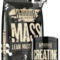 Warrior Mass Gainer 5kg Lean Muscle Weight Gain 3 Stage Protein & Creatine 300g