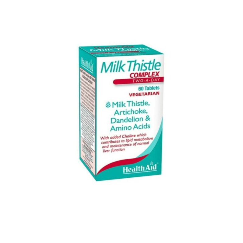 HealthAid Milk Thistle Complex 60's Tablets with Dandelion