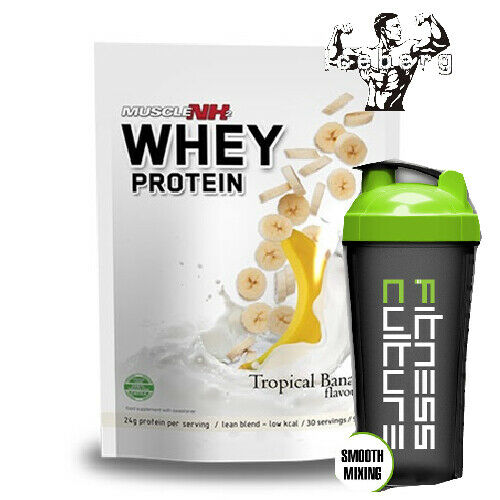 Muscle NH2 Whey Protein Powder 900g Low fat, Low Carbs And SHAKER!