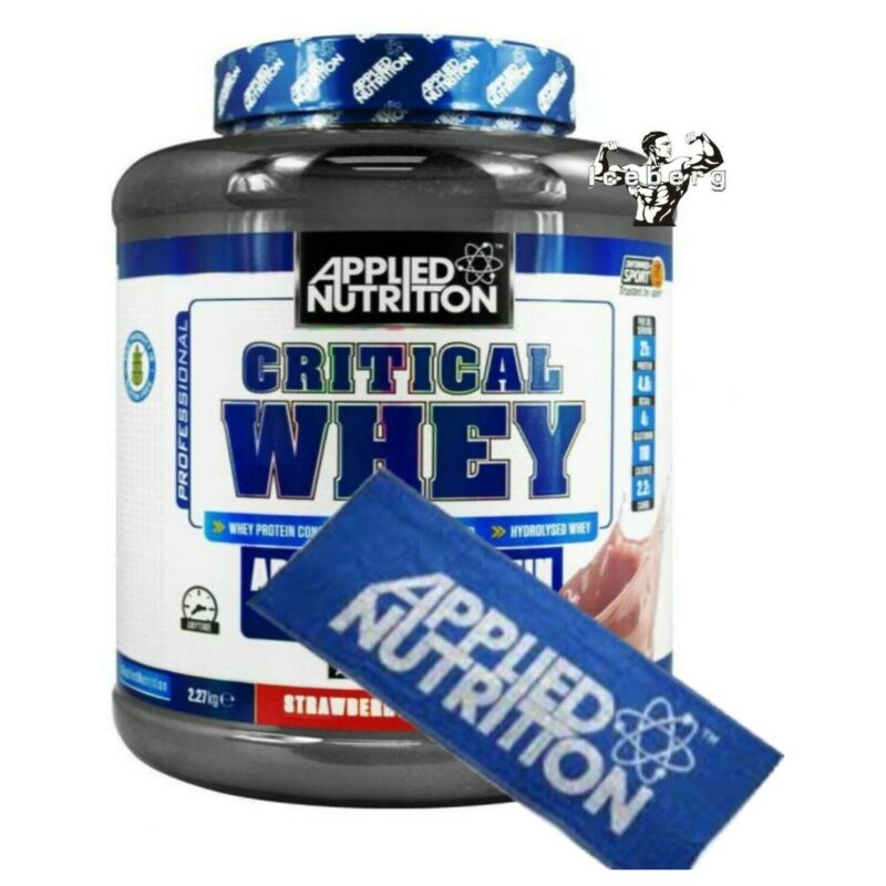 Applied Nutrition Critical Whey Protein 2.27kg Informed Sport & Training Towel