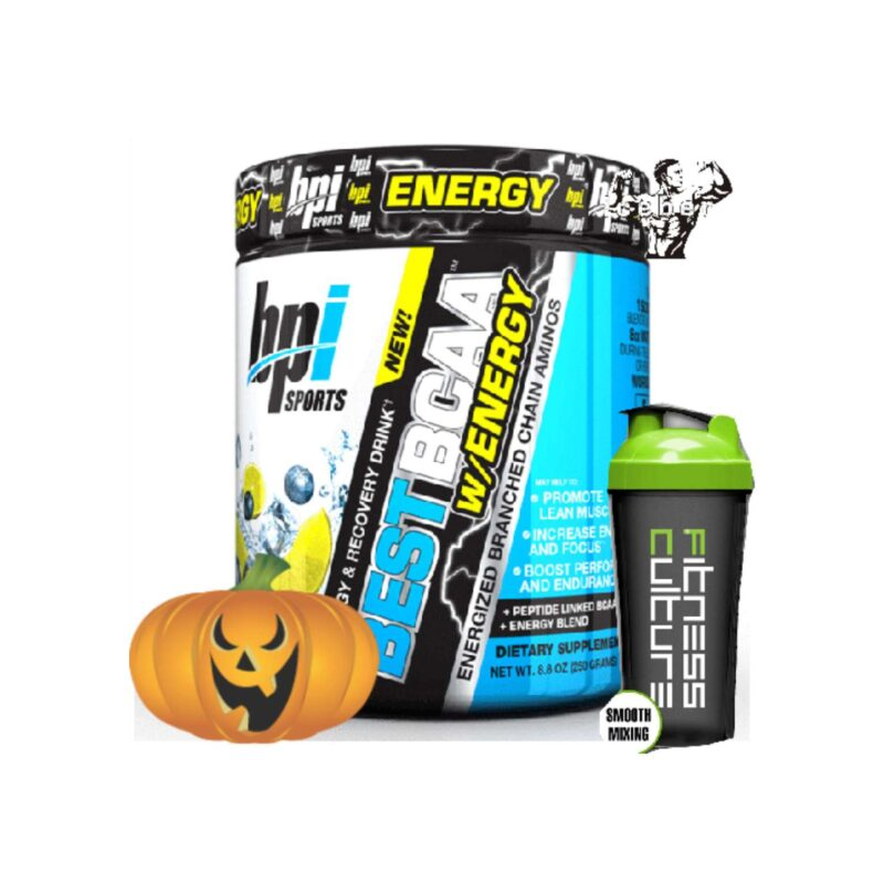 BPI Sports BCAA With Energy 30 Servings & SHAKER HALLOWEEN DEAL!