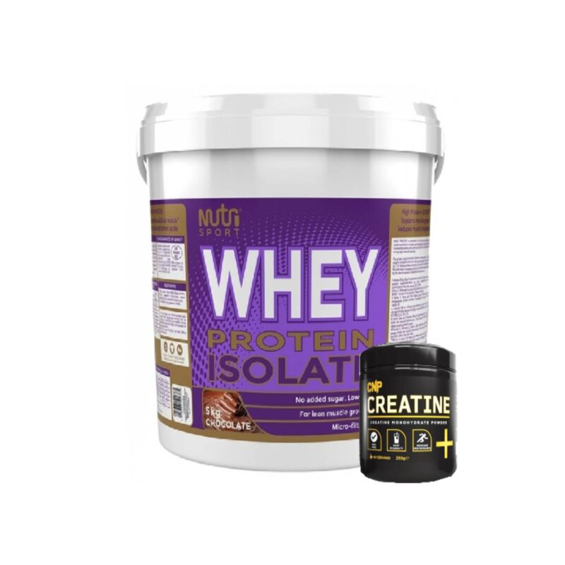 Nutrisport Whey Protein Isolate fast acting protein 120+ & CNP Creatine 250g