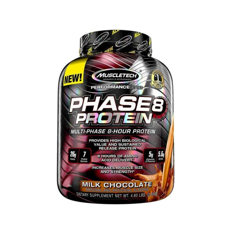 MuscleTech Phase8, 8 Hours Slow Release, 6 Unique Sources Proteins 2.09kg