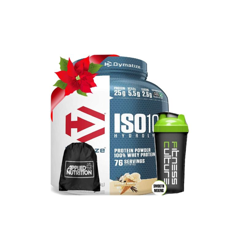 Dymatize ISO100 Hydrolyzed Whey Protein Isolate 2.2kg, Sling Bag And Shaker