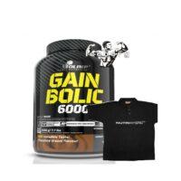 OLIMP Gain Bolic 6000 3.5kg Mass Gainer Protein Creatine Taurine BCAA & SHIRT!
