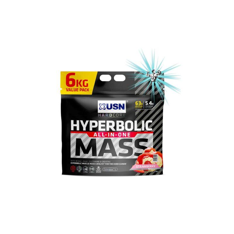 USN HYPERBOLIC MASS 6KG HIGH CALORIE WEIGHT GAIN