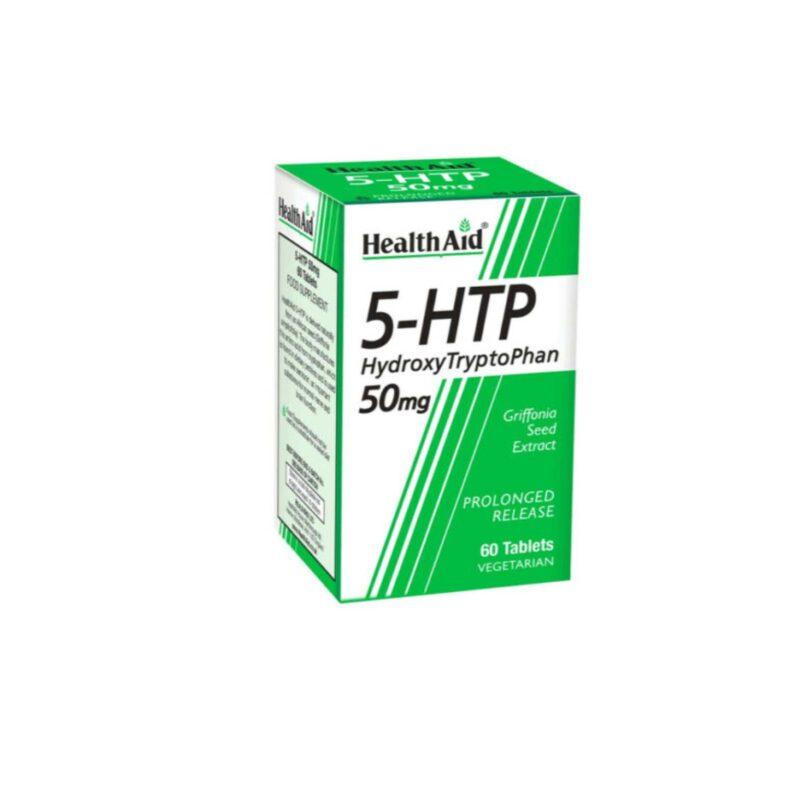 HEALTHAID 5-HTP 50mg 60 VEGETARIAN TABLETS - PROLONGED RELEASE