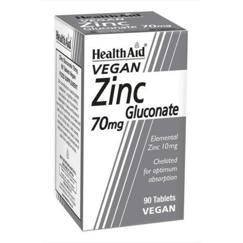 HealthAid Zinc Gluconate 70mg 90 Tablets