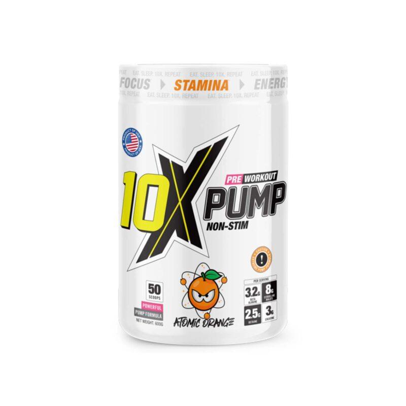 10x Athletic Pre Workout Pump Non Stim 50 scoops!