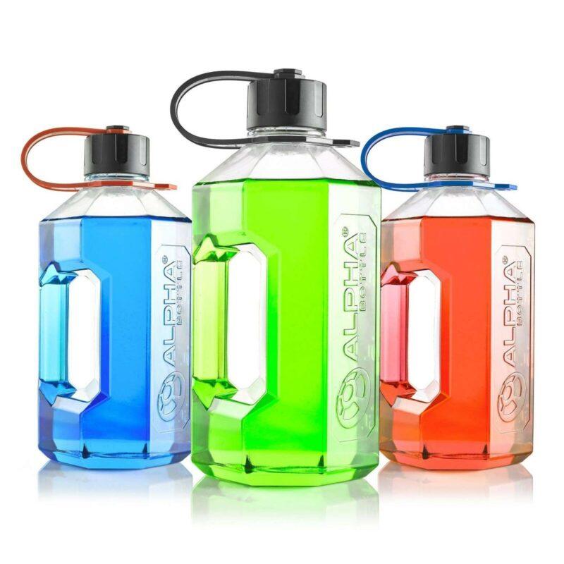 Alpha Bottle XXL - 2400ml Water Jug / Gym Bottle - BPA Free Heavy Duty Handle