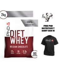 PHD Nutrition Diet Whey 80 Servings And Phd T Shirt Size M