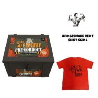 GRENADE 50 CALIBRE 580G 1.76LB PRE WORKOUT And T SHIRT LARGE