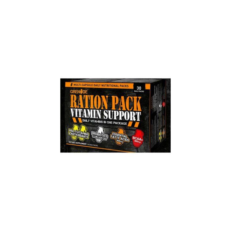 Grenade Ration Pack 120 caps Vitamin Support Daily Vitamins