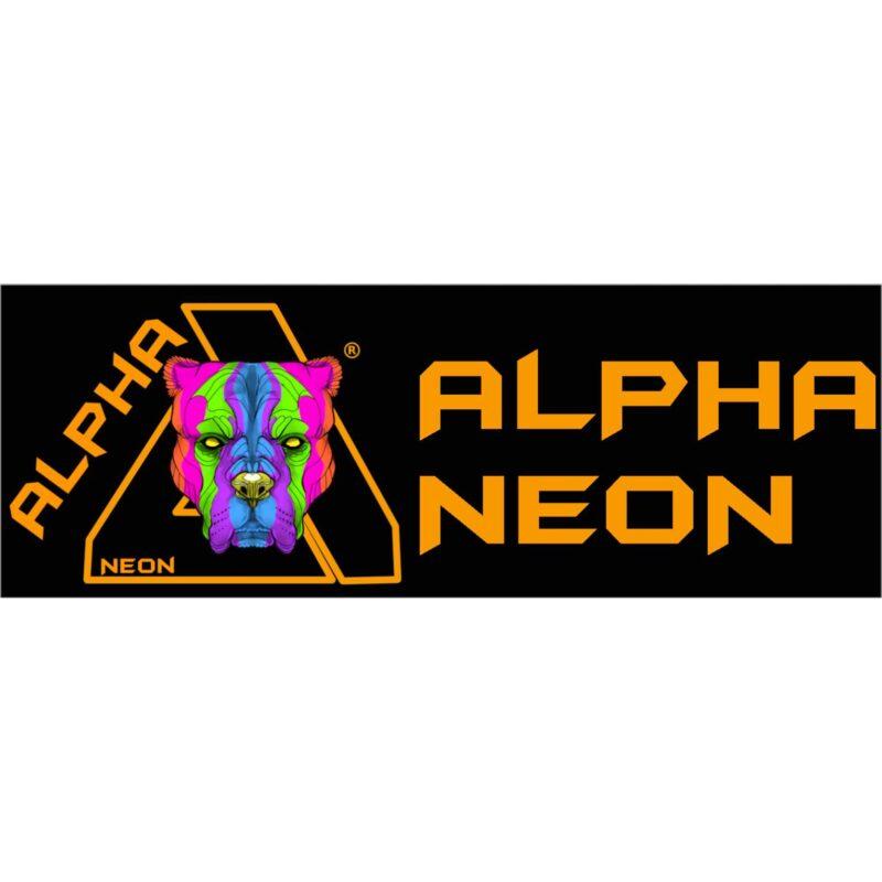 alpha neon logo