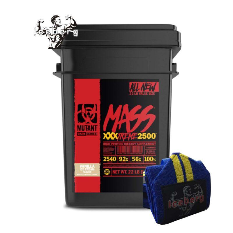 10KG PVL Mutant Mass XXXTreme 2500 Weight Gainer Mass Gain & WRIST WRAPS!
