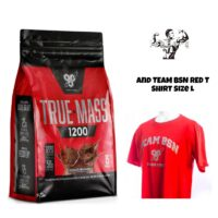BSN True-mass 1200 4.8kg Weight Gainer And T shirt Size Large