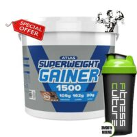 5KG ATLAS SUPER WEIGHT GAINER GAIN 1500 Cal Protein And Shaker