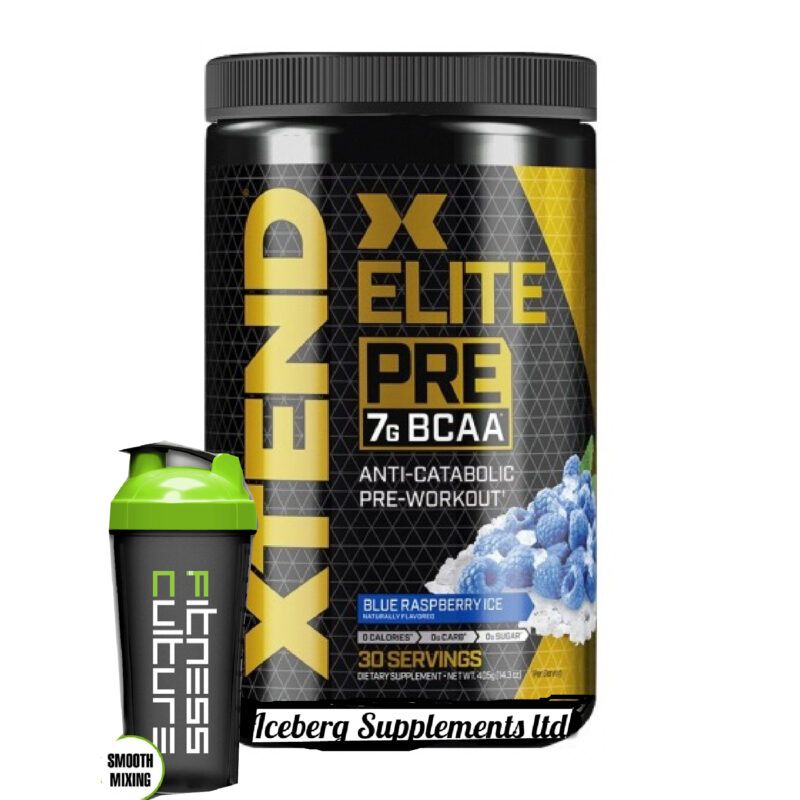 Scivation Xtend Elite Pre 405g BCAA Pre Workout And Shaker