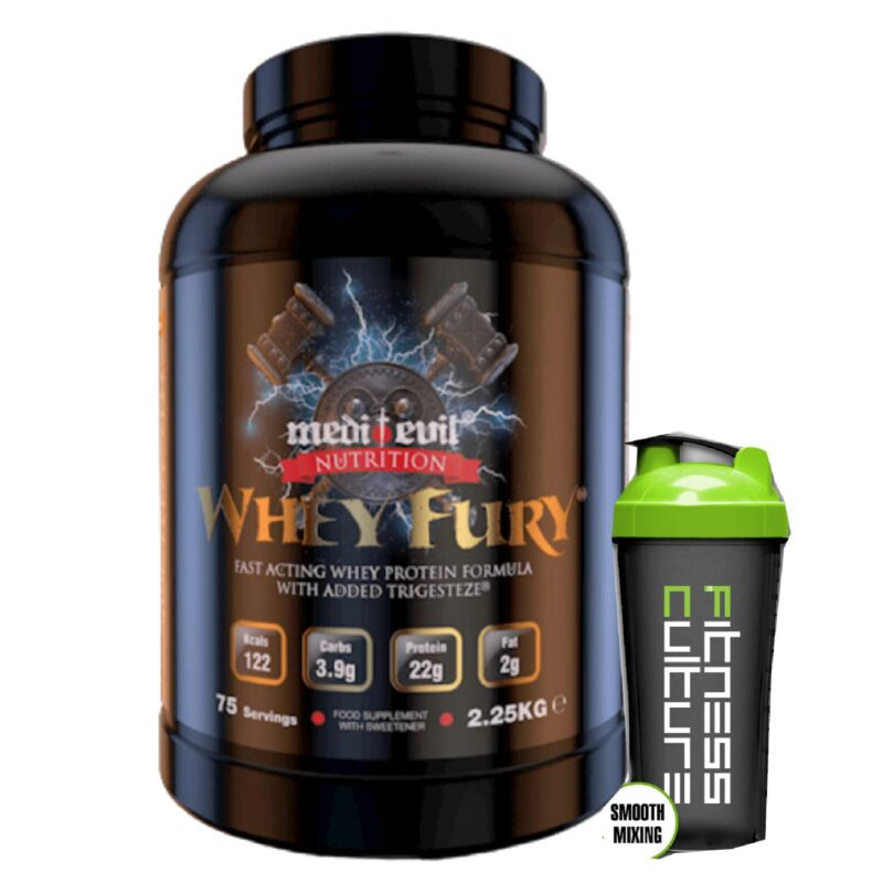 Medi Evil Nutrition Whey Fury Whey Protein 2.25kg And Shaker