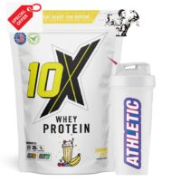 10X Athletic Whey Protein Low Fat High Protein And Free Shaker Offer!