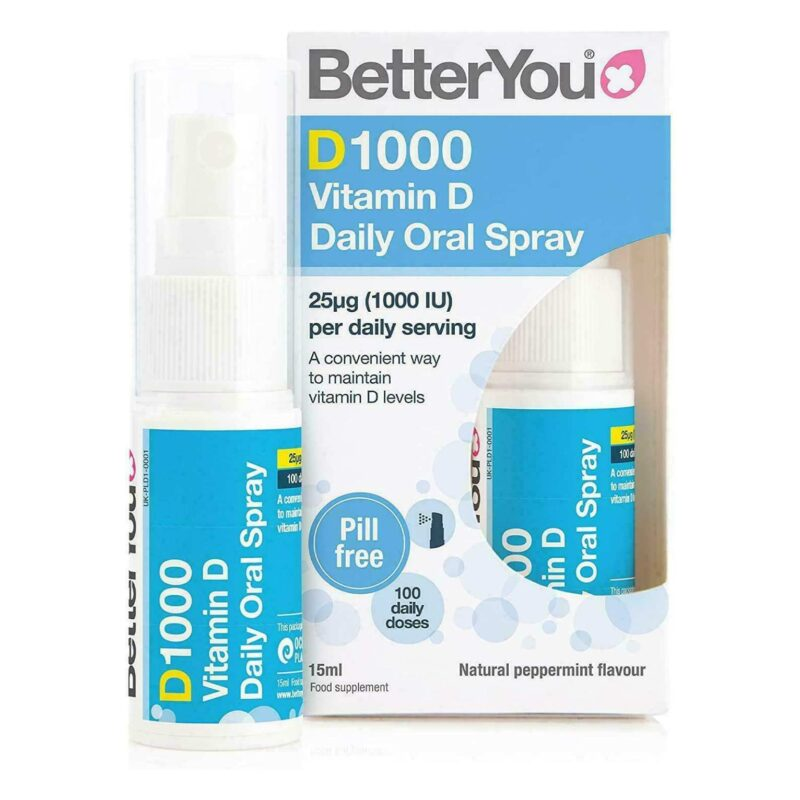 BETTER YOU | D1000 Vitamin D Daily Oral Spray 15ml x1
