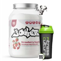 JOKER Whey Protein Powder 2kg 80 Servings BCAA EAA GLUTAMINE And SHAKER!